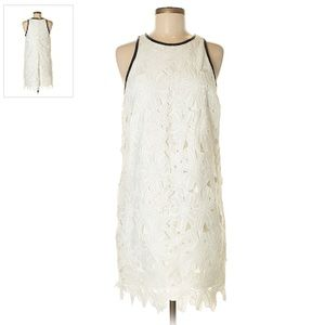 Bar III white lace trim dress